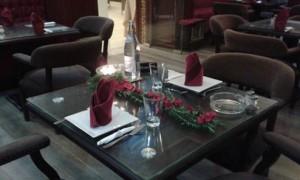 salle du restaurant le jardin de l'olivier